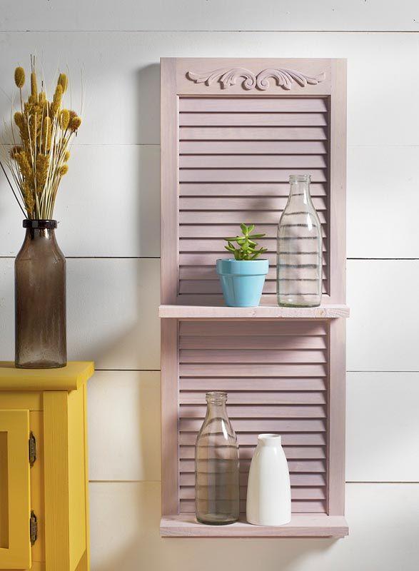 Repurposed Shutter Shelf - Project