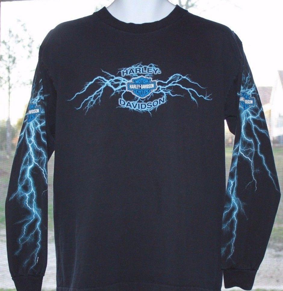 d022eb4dcd6 Harley Davidson Motorcycles Taku Juneau Alaska T-Shirt Blue Lightning Size  Large  HarleyDavidson  GraphicTee