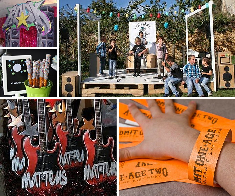 Rock Star Party Ideas | Rock and Roll Party Ideas at Birthday in a Box #rockstarparty