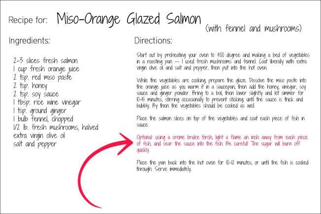 miso salmon recipe card Seafood Pinterest Salmon recipes - recipe card