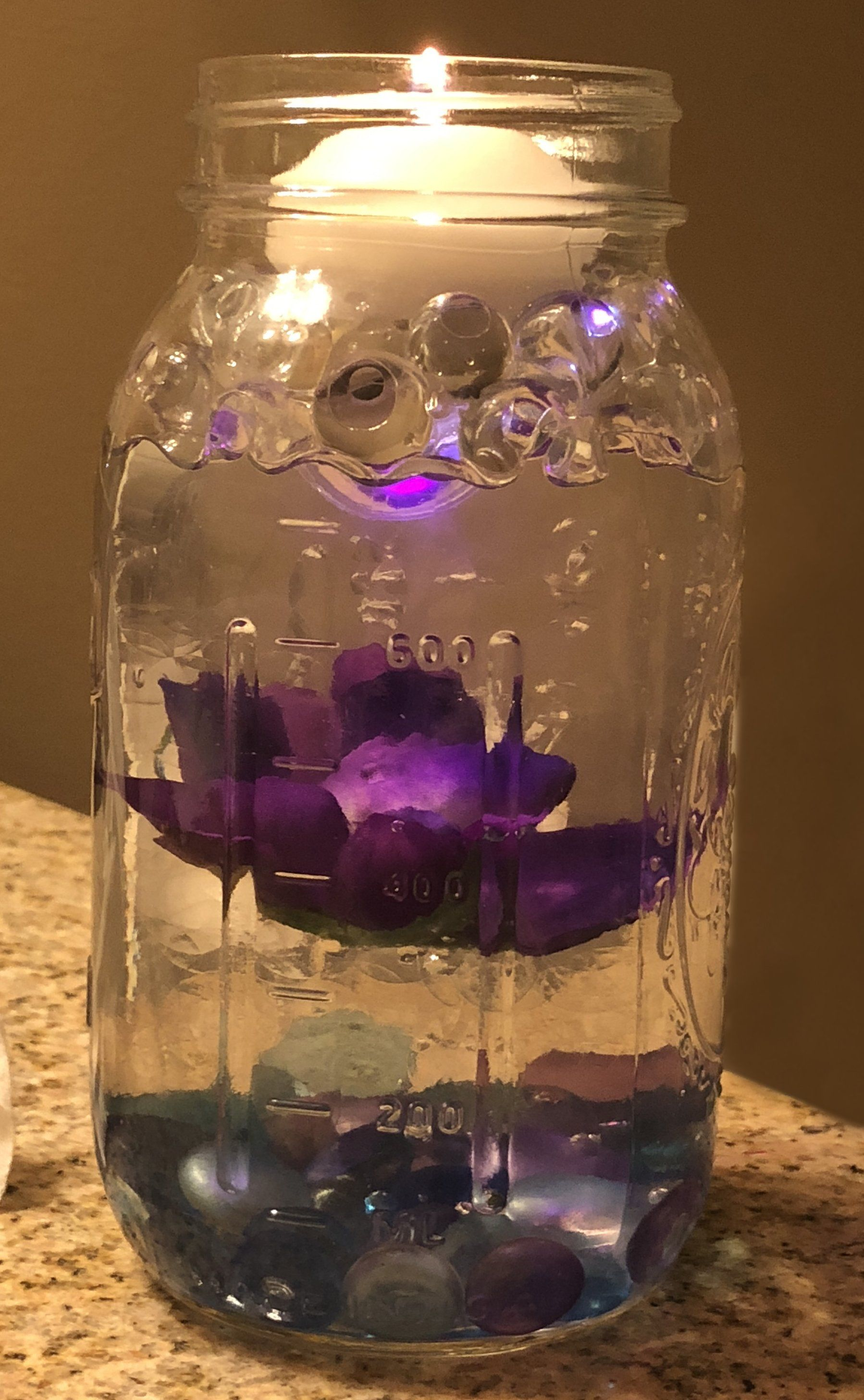 Floating center piece I made for my wedding using the same