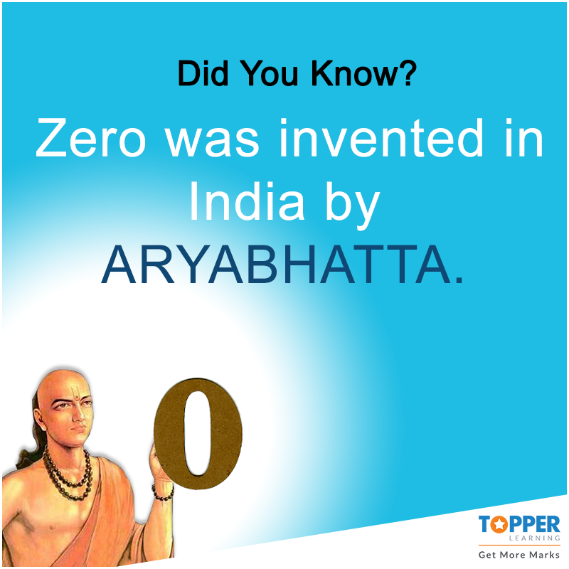 DidYouKnow Zero was invented in India by Aryabhatta. #Math #Fact ...