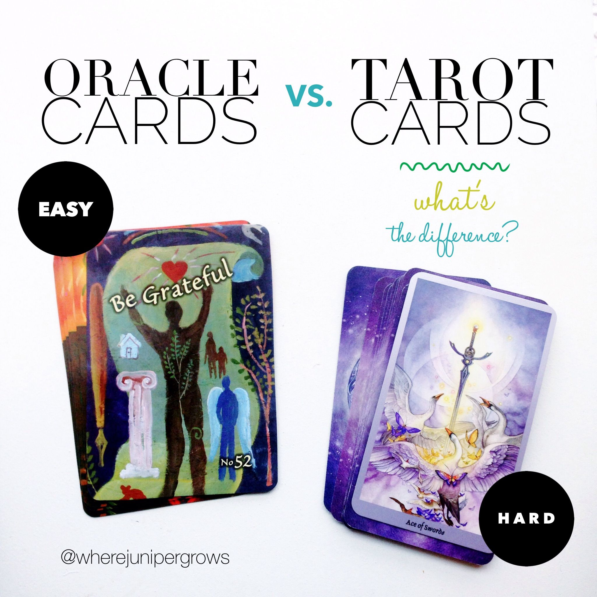 Q A Post What S The Difference Between Oracle Cards And Tarot Cards