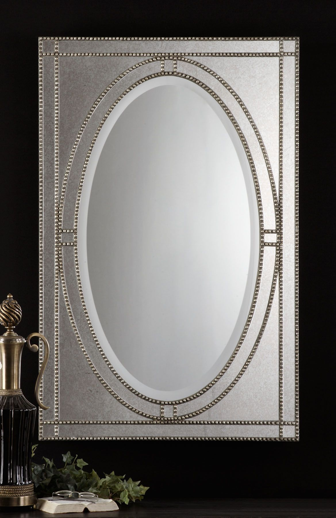 Uttermost Earnestine 29 X 44 Antique Silver Wall Mirror