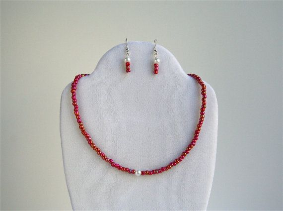 Wire Jewelry Jewelry Set Seed Bead Jewelry by kikisjewelrybox, $13.75