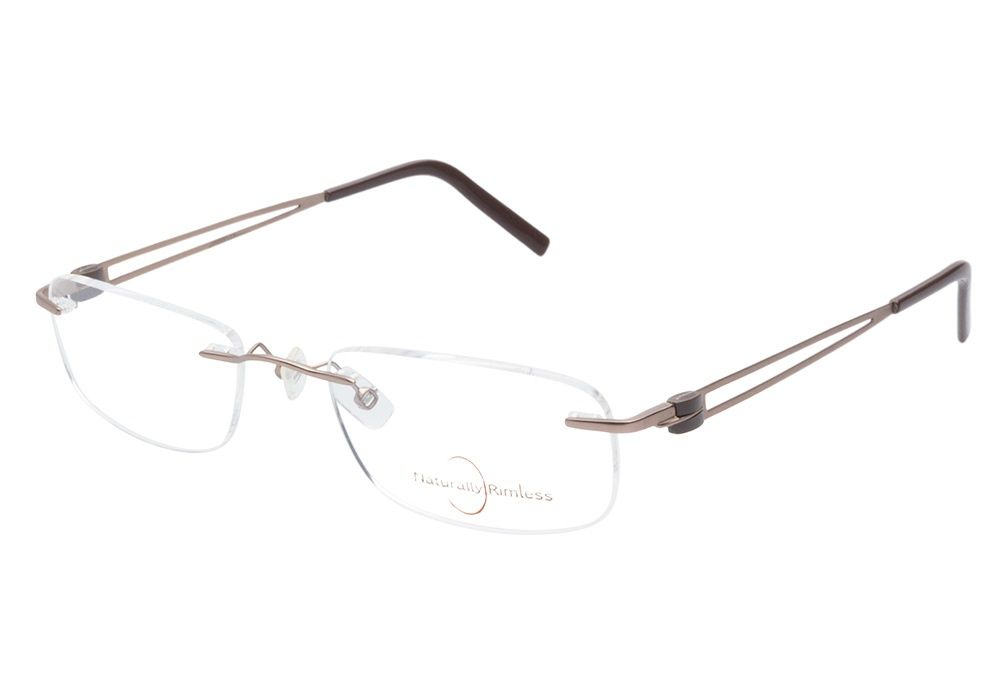 Naturally Rimless 157 Light Brown eyeglasses are classically ...