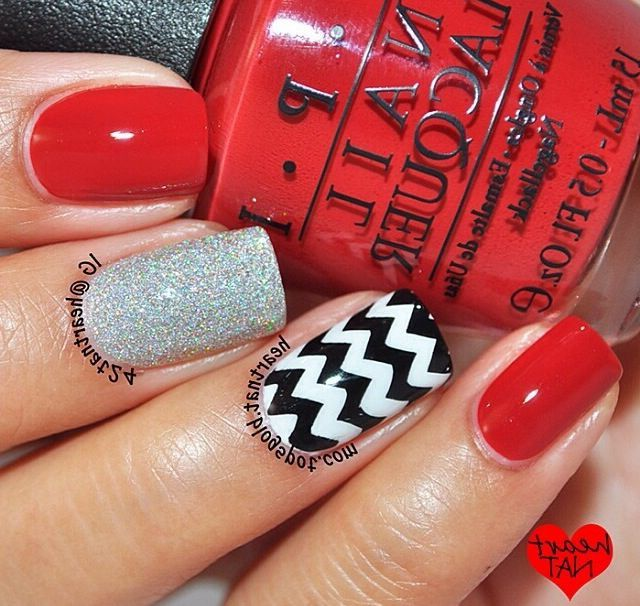 Black White Silver And Red Nails Nails Pinterest Red Nails Red Black And White  Nail Designs - Black White Silver And Red Nails Nails Pinterest Red Nails Red