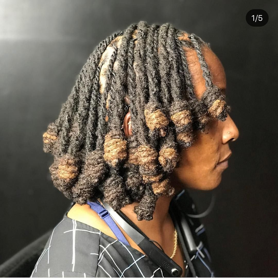 Beautiful Loc Knots Bob By Hairbyrelle Locstylesforwomen Locstyles Teamlocs Iglocs Womenlocstyles Dreadloc Mommy Hairstyles Kim Hair Natural Hair Styles