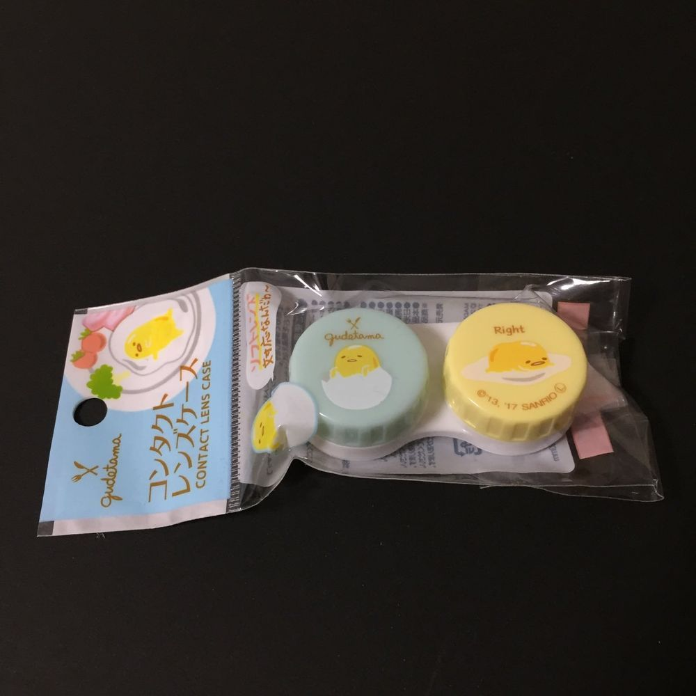 Sanrio Gudetama Contact Lens Case Holder Airmail Free Shipping Sanrio Gudetama Contact Lens Case Contact Lenses Case Contact Lenses