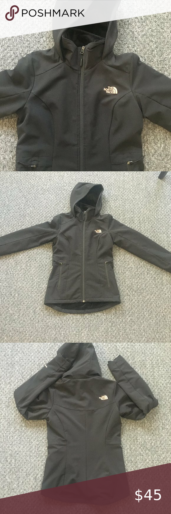 North Face Black Jacket W Rose Gold Accents In 2020 Black North Face Jacket Black North Face Black Jacket [ 1740 x 580 Pixel ]