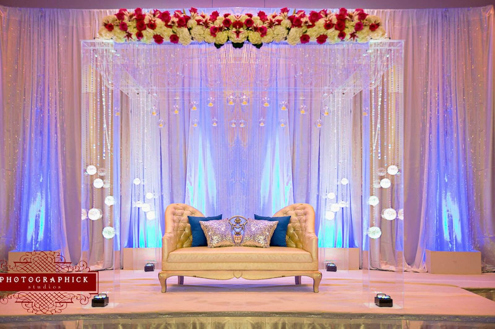New style wedding stage decoration   Indian Wedding Decorations Ideas  Indian wedding decorations