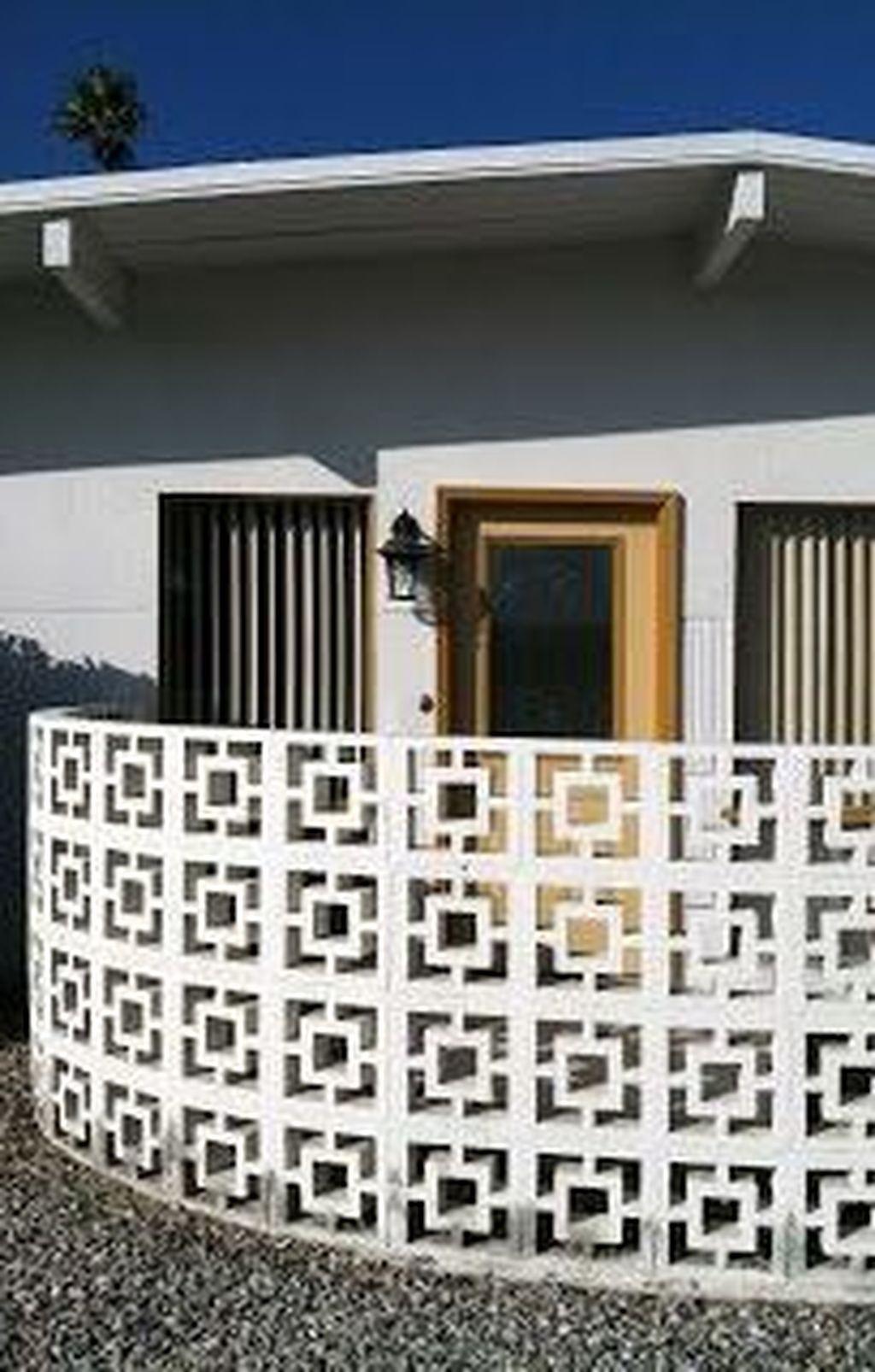 33 Fancy Breeze Block Wall Backyard Ideas For Your Inspiration In 2020 Breeze Block Wall Decorative Concrete Blocks Screen Block
