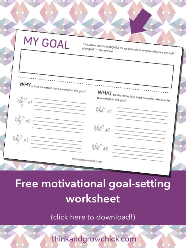 Free printable goal setting worksheet to help you get motivated to ...