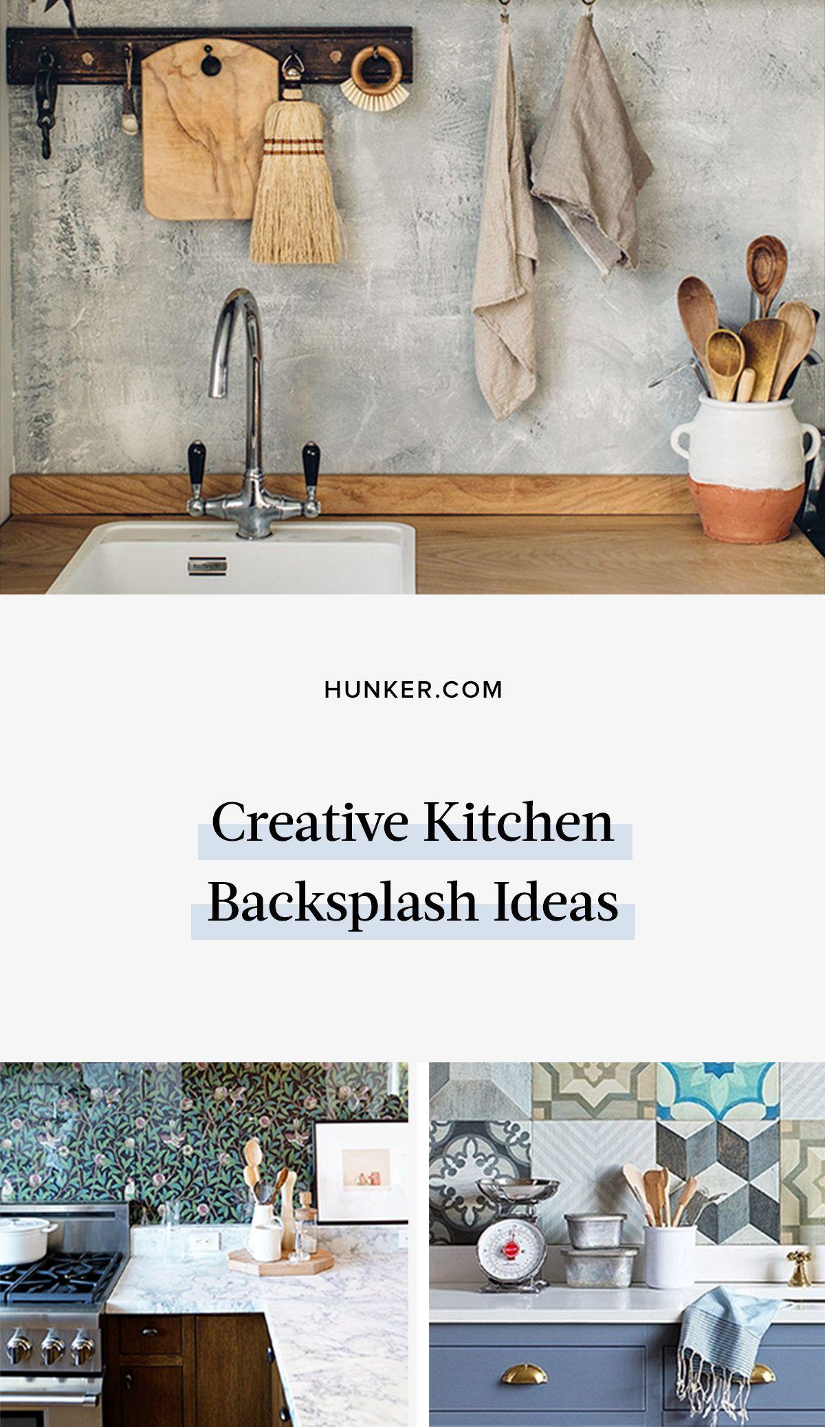 9 Creative Kitchen Backsplash Ideas Bursting With Originality Hunker Creative Kitchen Backsplash Kitchen Backsplash Contemporary Kitchen