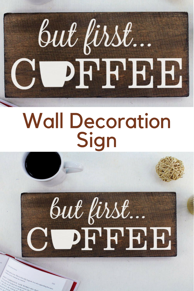 But First Coffee Wall Decor Decoration Signs for Kitchen Art| rustic ...