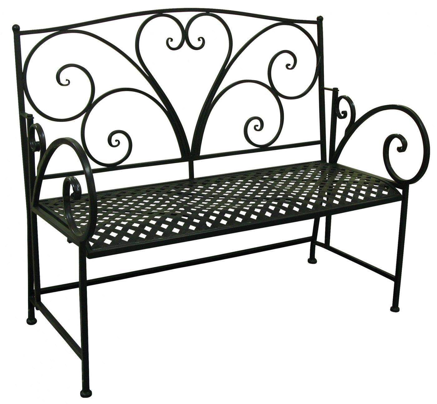 Black Iron Heart Bench Outdoor Furniture 187 Outdoor