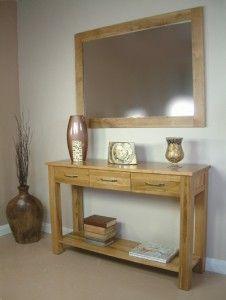 Hallway Table Mirror Combo Oak Console Table Hallway