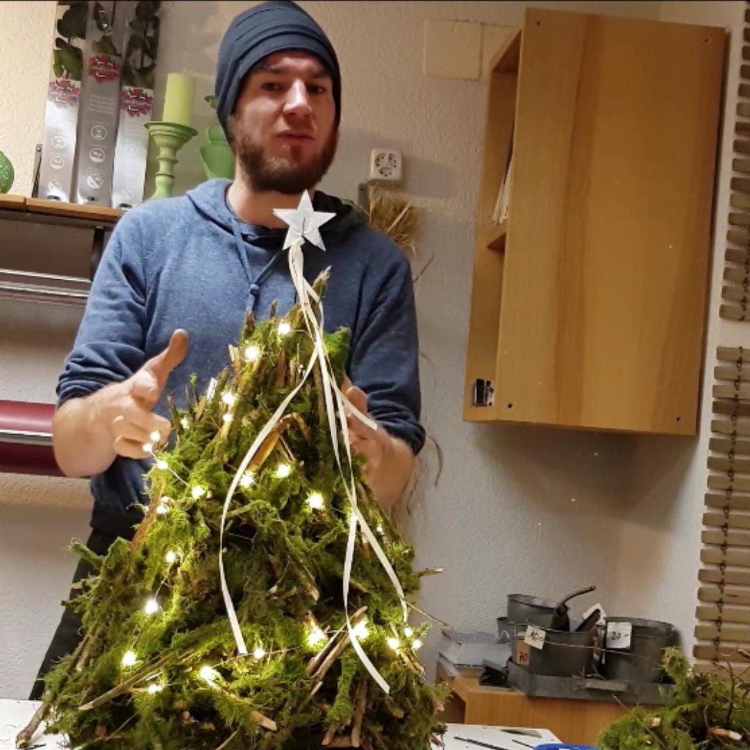 Rustikale Weihnachts Dekoration für draussen selber machen #rustikaleweihnachten