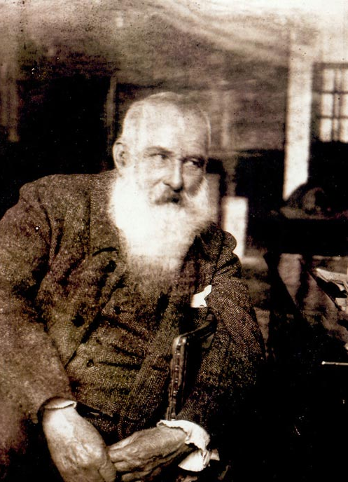 Claude Monet (1840-1926) in 1926 a few months before his death.