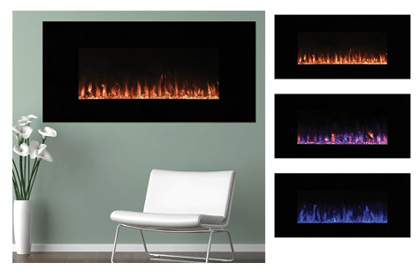 54-Inch Northwest LED Fire and Ice Electric Fireplace with Remote - 54-Inch Northwest LED Fire And Ice Electric Fireplace With Remote