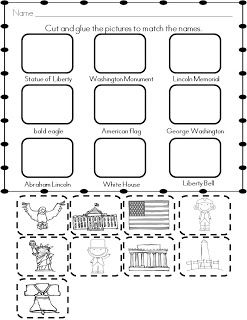 Sunday Share Kindergarten Social Studies Social Studies Social Studies Elementary National symbols worksheets for kindergarten