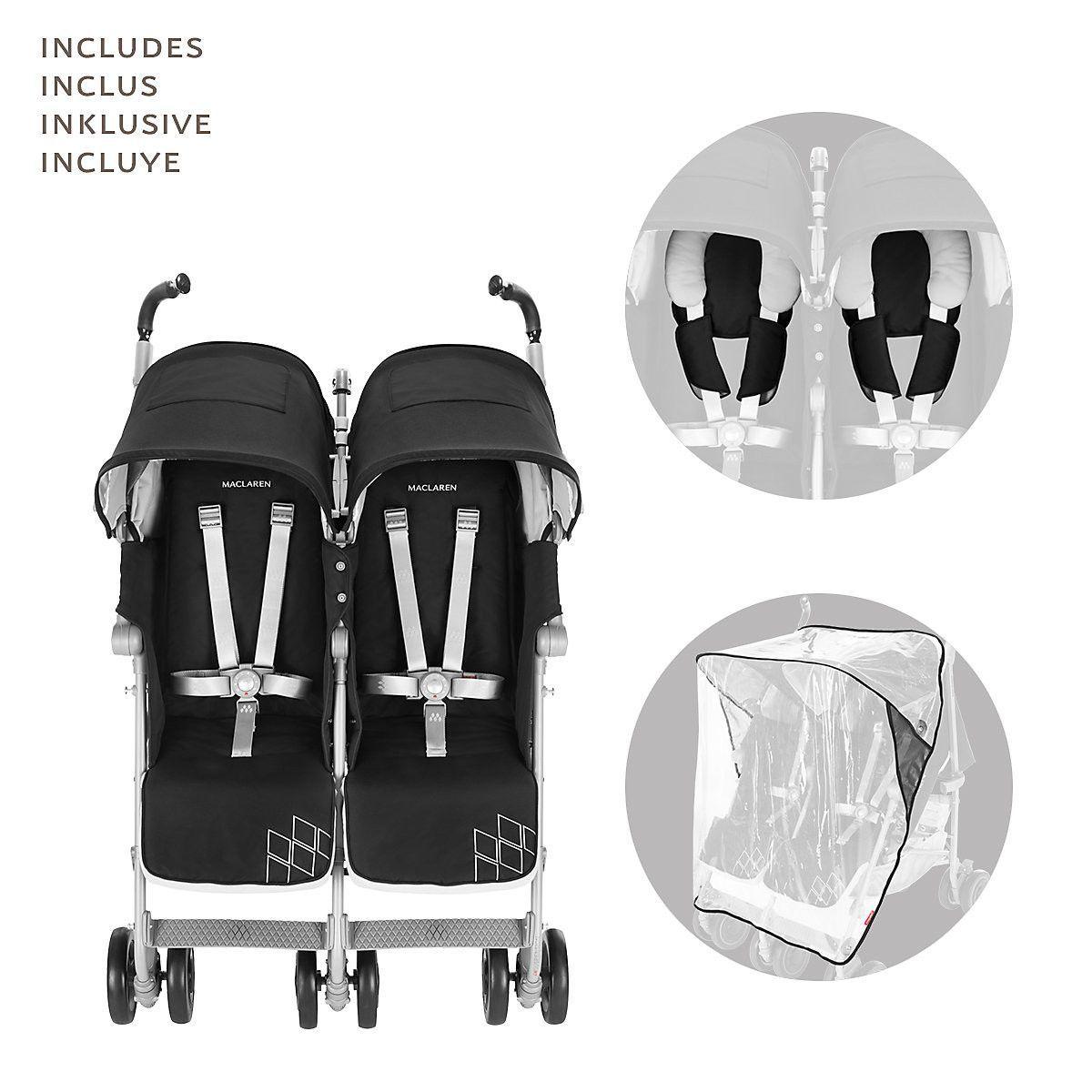 Maclaren Twin Techno Double strollers, Techno, Twins