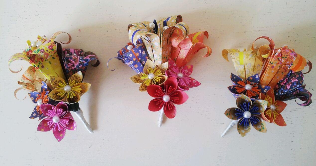 Mexico Wedding Alternative Paper Flower Corsage Alternative