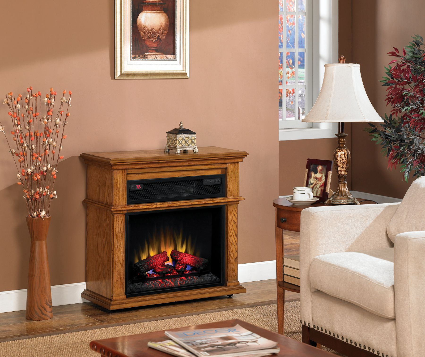 The Bennington Infrared Rolling Mantel Warms 1 000 Sq Ft The
