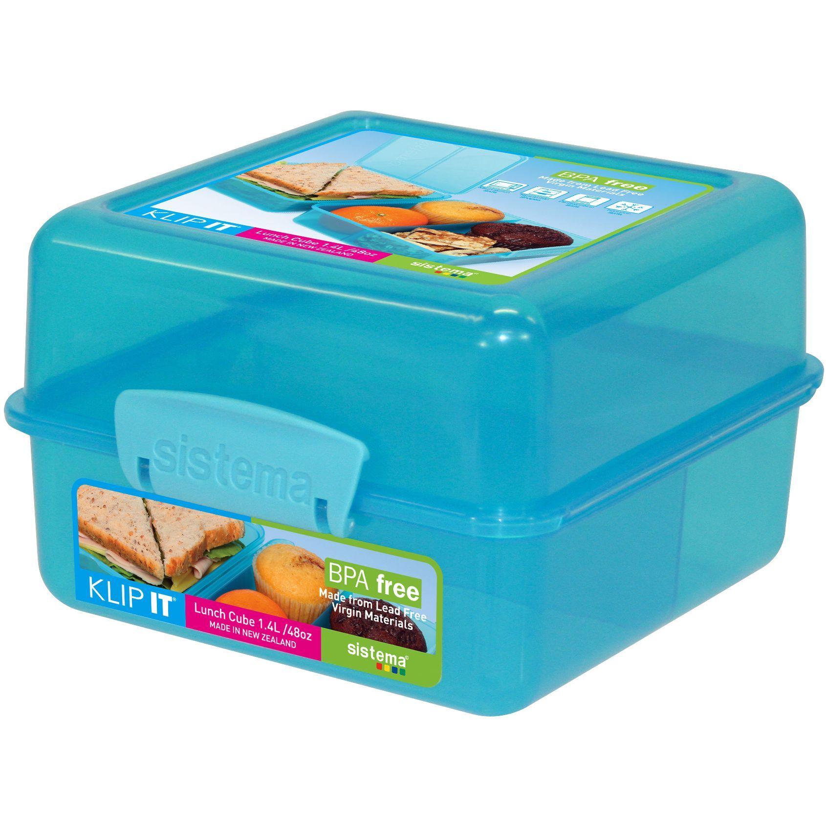 Sistema 1735 40 Oz Orted Colors Klip It Lunch Food Storage Cube