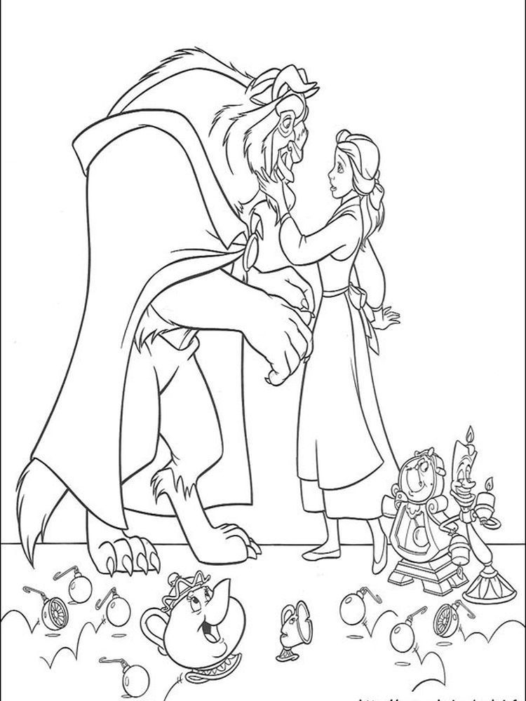 Beauty And The Beast Coloring Pages 2017 1 Below Is A Collection Of Beauty And Disney Princess Coloring Pages Disney Coloring Pages Cartoon Coloring Pages