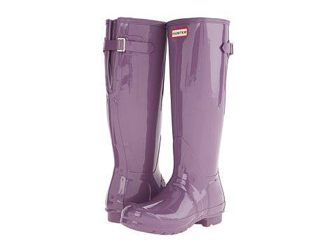 Hunter Original Back Adjustable Gloss- Dusty Lavender boots