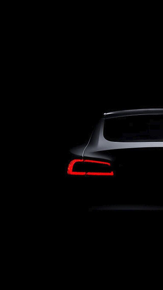 تسلا مدل S Dark Brake Light iPhone 8 wallpaper Black car