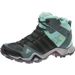 Amazon.com: adidas Outdoor AX 2 Mid GTX Hiking Boot - Women's Vista Green/ Black/Bahia Mint 12: Clothing