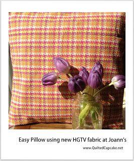 Easy pillow from HGTV Home fabrics at Joann