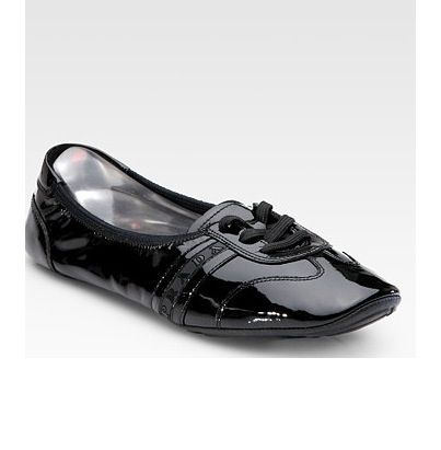 clearance cheapest price Prada Sport Leather Lace-Up Flats free shipping cheap real VJB3lLOldh