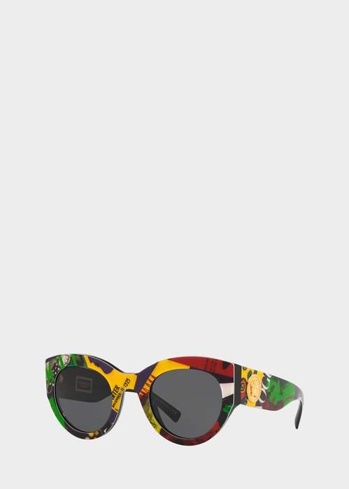 2b31cad3308 Versace Vogue Print Tribute Sunglasses Gianni Versace