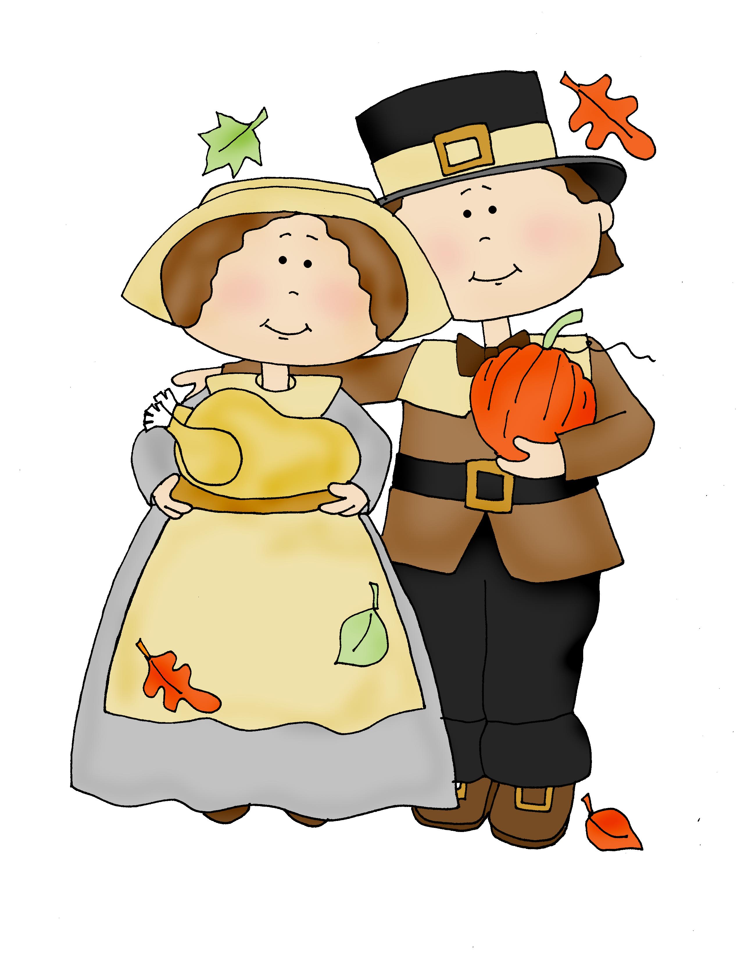 Thanksgiving Pilgrims Clip Art
