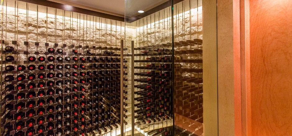 Wine storage with limestone veneer wine cellar Pinterest Wine