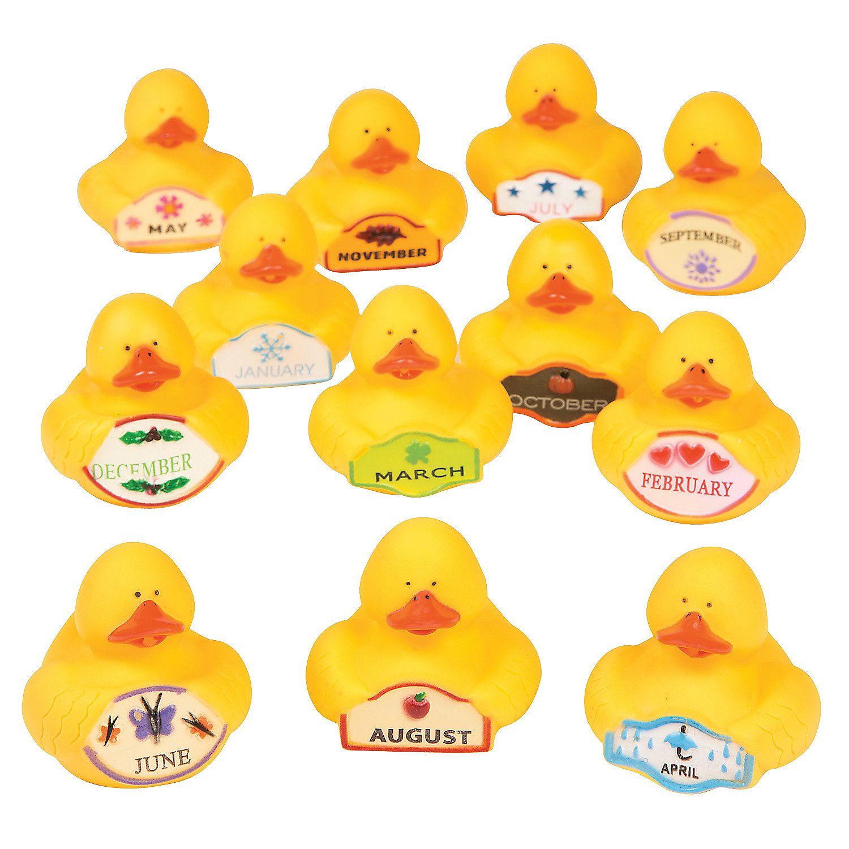 Duck Of The Month Rubber Ducky Asst Discontinued Rubber Ducky Ducky Rubber Duck