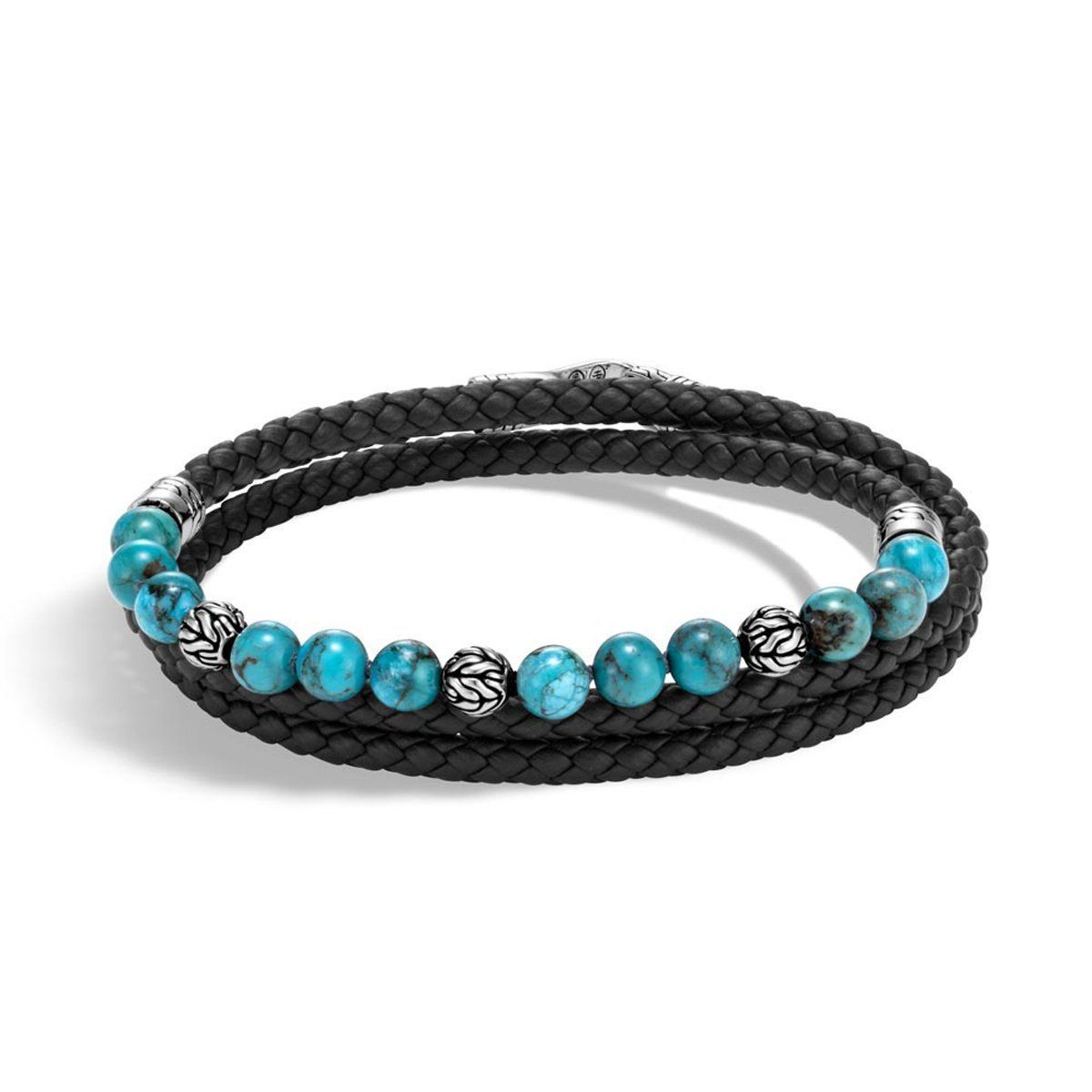 John Hardy Mens Classic Chain Sterling Silver & Turquoise Bead Bracelet ZPjWqg7Qy