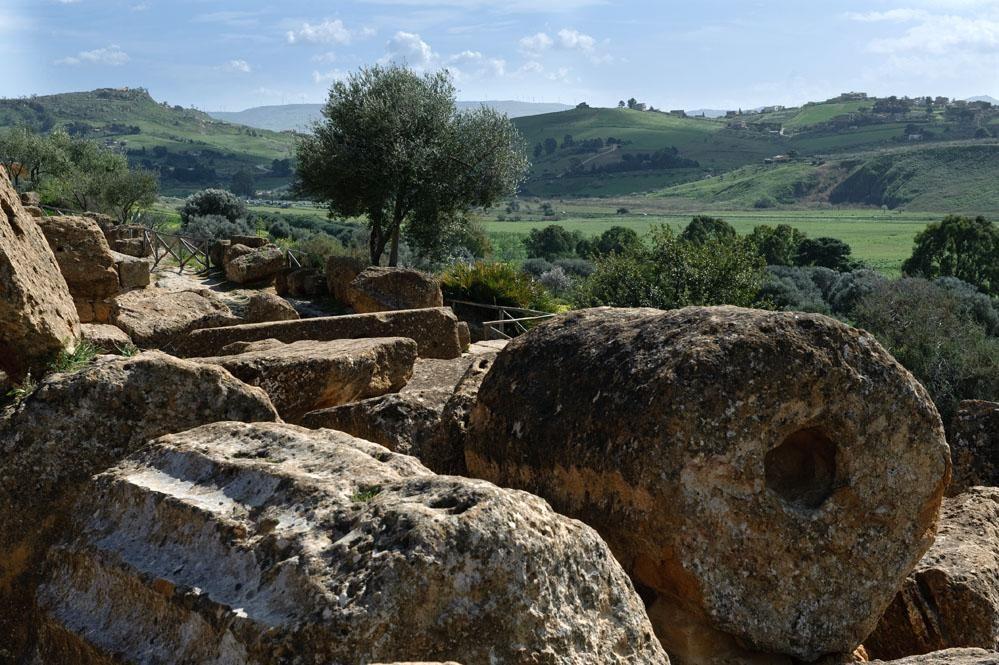 Agrigento. Valle dei Templi. Tempio di Heracles -