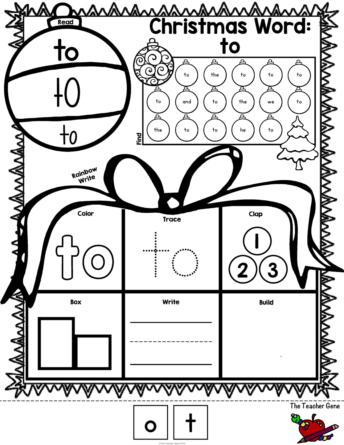 Christmas Sight Words Print And Go Freebie