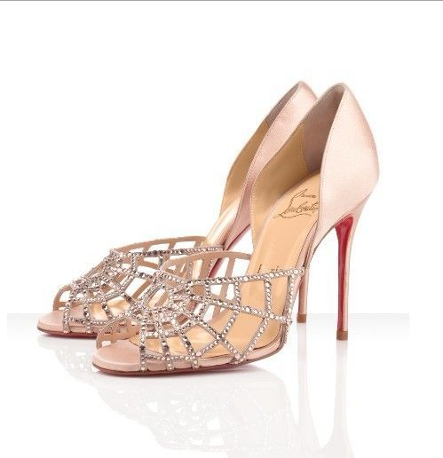 5e4736c50980 Christian Louboutin Crystal Pumps Nude Wedding Shoes I wish ...