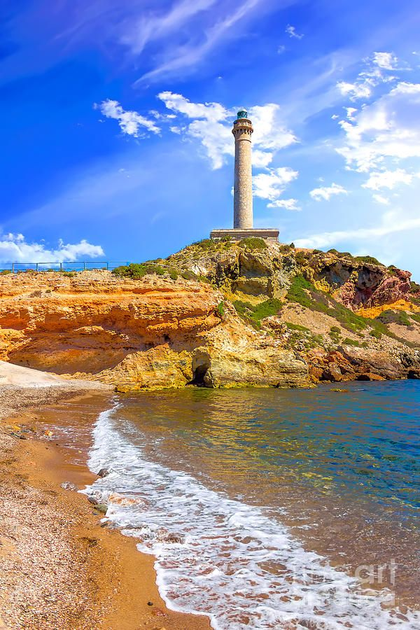 Cabo De Palos Lighthouse On La Manga By Dragomir Nikolov Murcia Lighthouse Spain