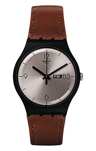 c2489d25 Plain Swatch Leather For Him   Watches For Gentlemen in 2019   Gents ...