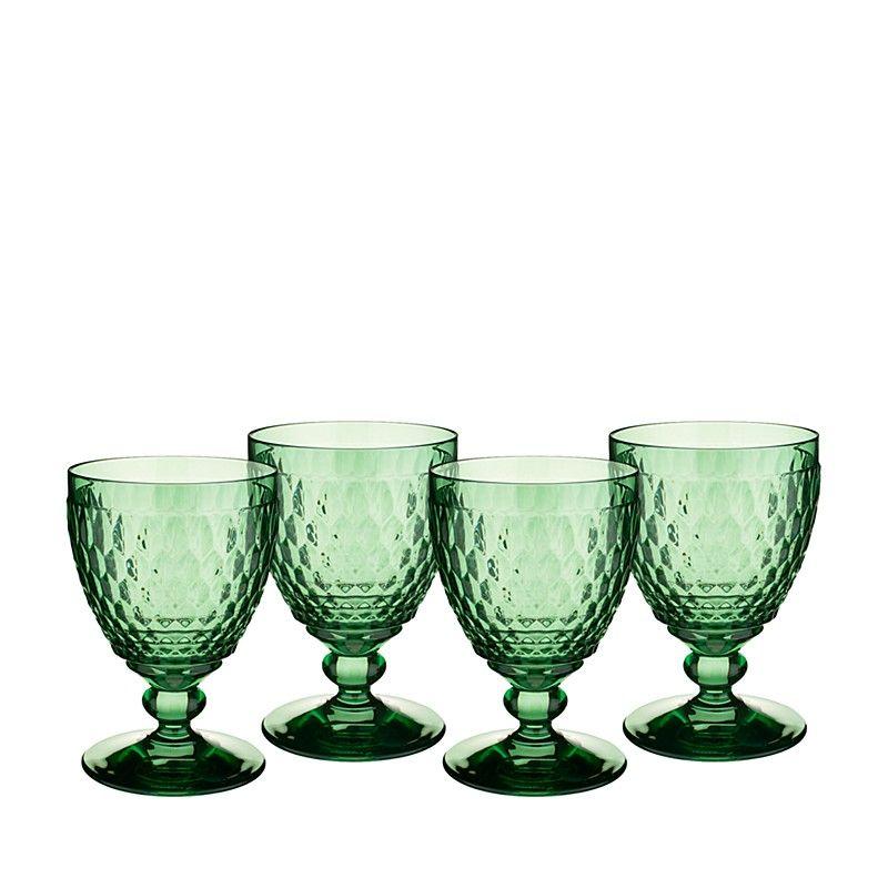Boston Water Glass Villeroy Boch: Boston Claret Glass, Green, Set Of 4