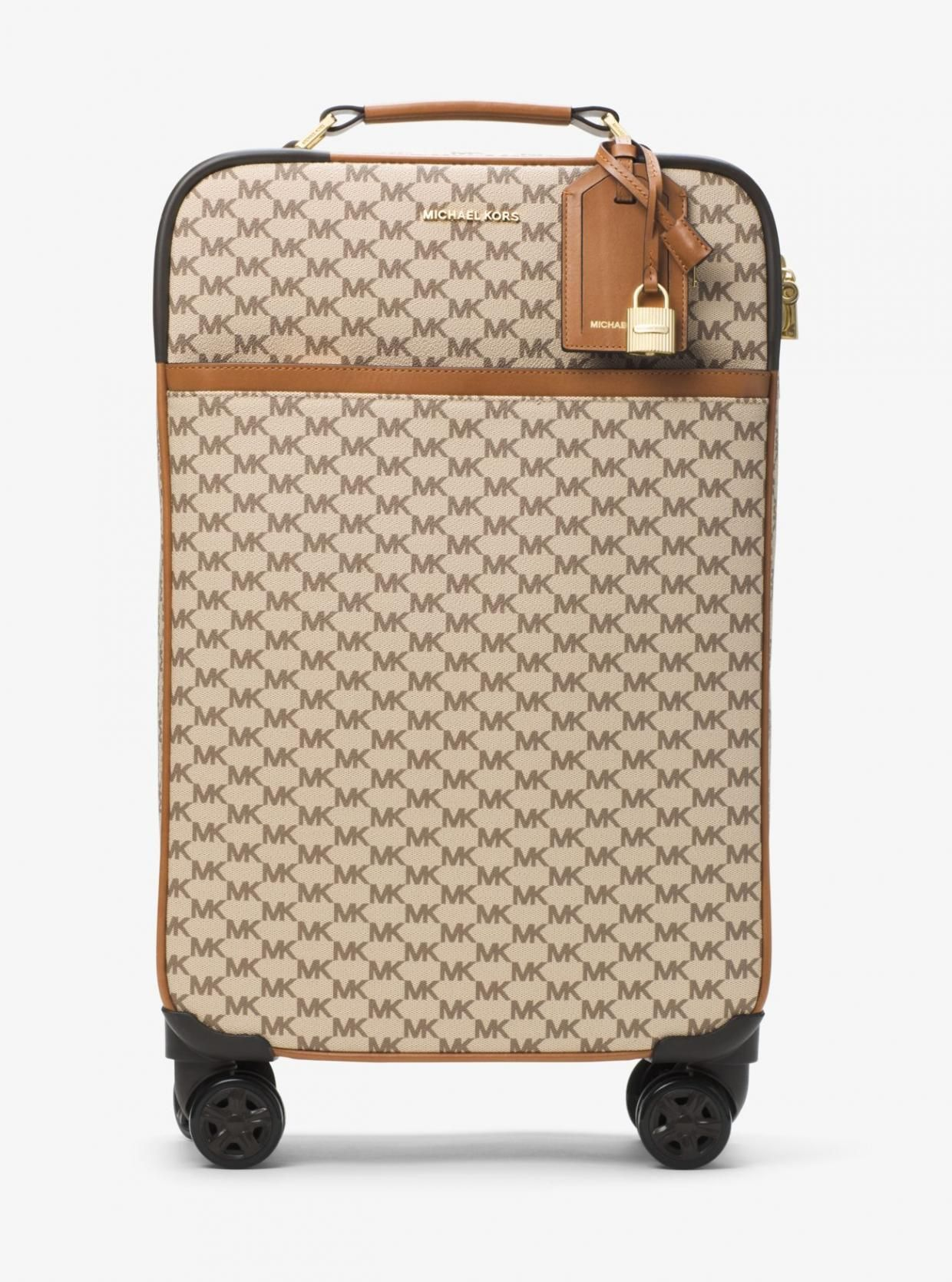 Michael Kors – Womens Large Heritage Logo Suitcase Natural Luggage ... 8725f2513e