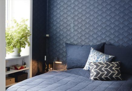 Behang Slaapkamer Blauw.Mooi Blauw Behang In Slaapkamer Van Kasper Behang