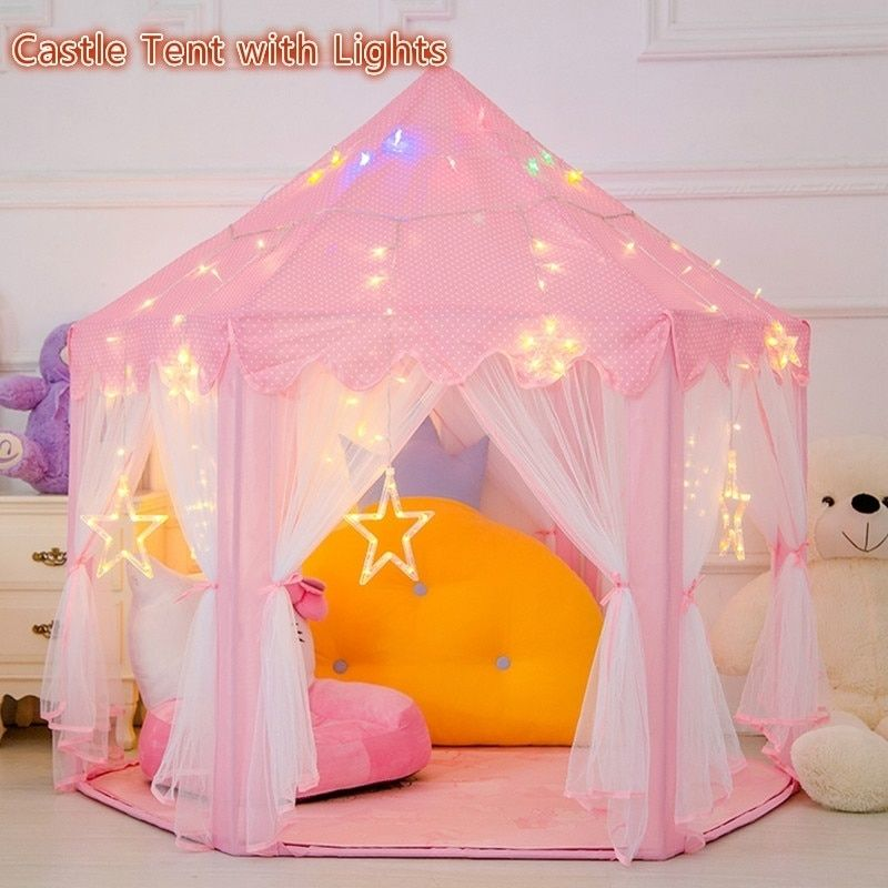 Beautiful Tents With Little Star Lights Play Fairy House Portable