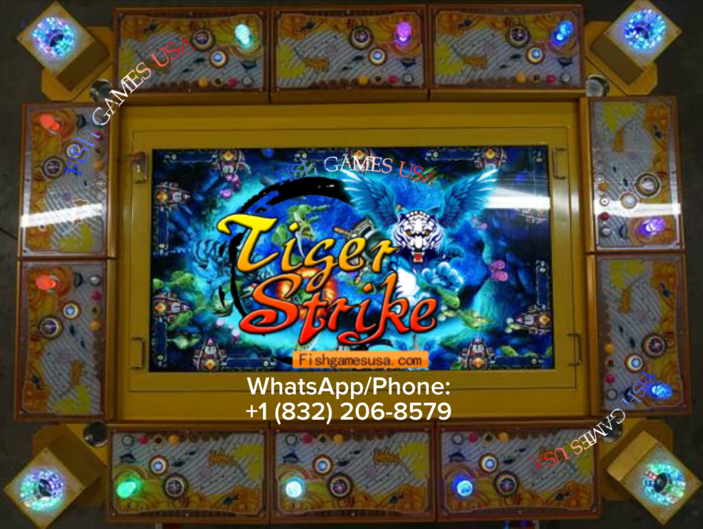 Tiger Strike Skilled Fish Hunting Video Arcade Game Machines By